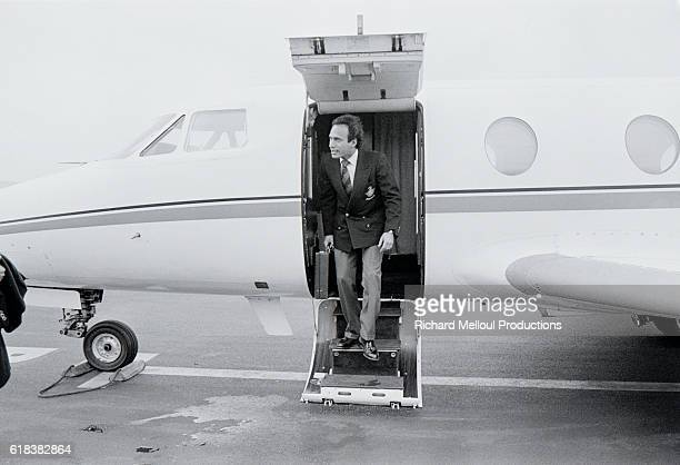 Deputy Olivier Dassault Disembarks from Private Airplane