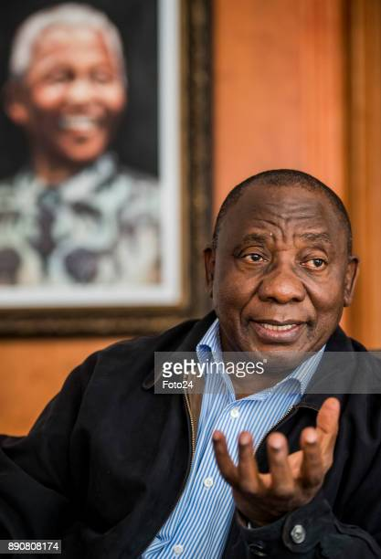 Deputy President Cyril Ramaphosa during an interview in his home in Hyde Park on December 08 2017 in Johannesburg South Africa Ramaphosa shot down...