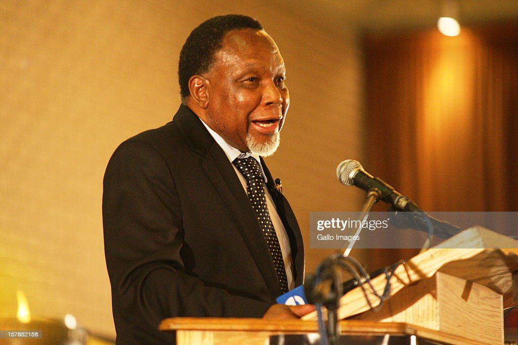 Deputy President Kgalema Motlanthe delivers his address at the Jacob Zuma Centennial lecture on December 6, 2012 in Potchefstroom, South Africa. The lecture is part of the ANC's centenary celebrations honouring the party's presidents, and is the last before their elective conference in Mangaung.