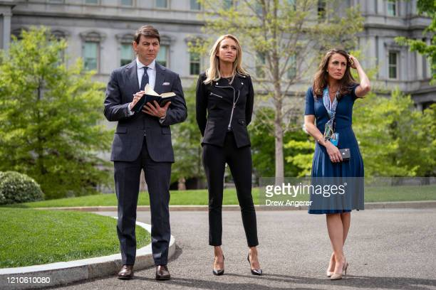 Deputy Press Secretary Hogan Gidley new White House Press Secretary Kayleigh McEnany and new White House Director of Strategic Communications Alyssa...