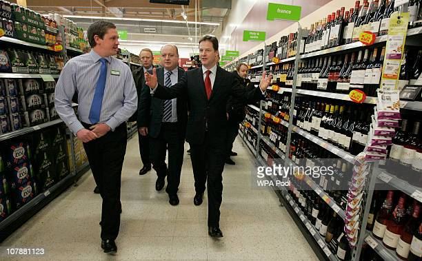 Deputy Prime Minister and Leader of the Liberal Democrat Party Nick Clegg and Liberal Democrat candidate for Oldham East and Saddleworth Elwyn...