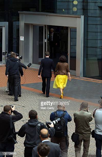 Deputy Prime Minister and leader of the Liberal Democrats Nick Clegg and his wife Miriam Gonzalez Durantez arrive at the Liberal Democrat Autumn...