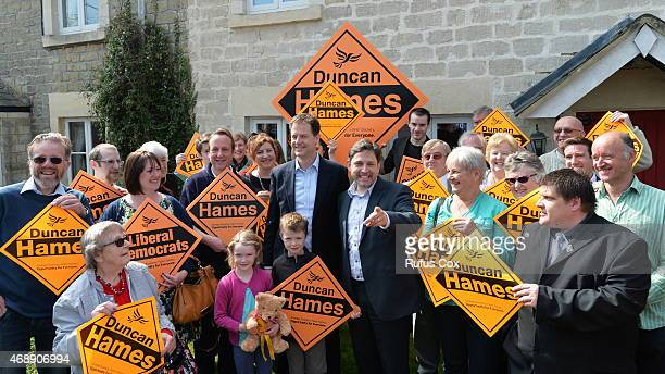 Deputy Prime Minister and Liberal Democrat leader Nick Clegg meets supporters during a visit to the Chippenham seat of Liberal Democrat MP Duncan...