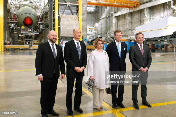 Deputy Prime Minister and Minister of the Economy of Luxembourg Etienne Schneider General Director at Airbus Thomas Enders LLAARR GrandDuc Henri and...