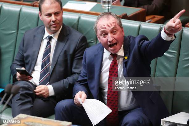 Deputy Prime Minister Barnaby Joyce during House of Representatives question time at Parliament House on May 11, 2017 in Canberra, Australia. The...