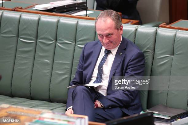 Deputy Prime Minister Barnaby Joyce during question time in the House of Representatives at Parliament House on May 9, 2017 in Canberra, Australia....