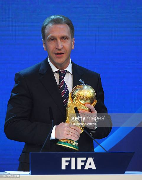 Deputy Prime Minister Igor Shuvalov of Russia speaks after winning the bid to host the 2018 World Cup during the FIFA World Cup 2018 2022 Host...