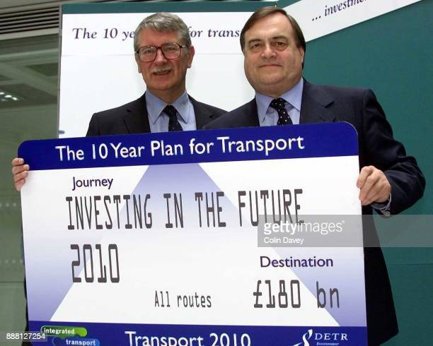 Deputy Prime Minister John Prescott and Minister For Transport Lord Macdonald of Tradeston launch a £180 Billion ten year plan for investment in...
