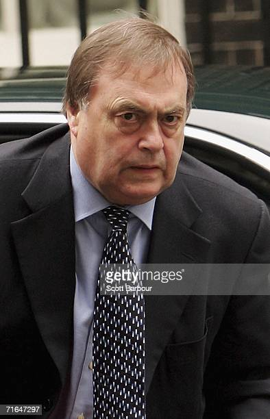 Deputy Prime Minister John Prescott arrives at Downing Street on August 15 2006 in London England Prescott is chairing a ministerial meeting today as...