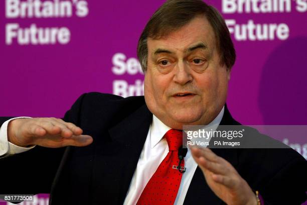 Deputy Prime Minister John Prescott delivers a speech on inner cities to Labour activists at the Joseph Wright Centre Derby PRESS ASOCIATION photo...