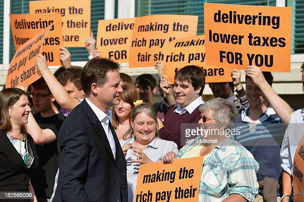 Deputy Prime minister Nick Clegg arrives in Brighton for the Liberal Democrats' Party Conference on September 22 2012 in Brighton England As the...