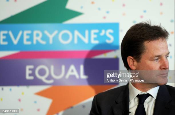 Deputy Prime Minister Nick Clegg meets LGBT groups to discuss the impact of the Government's proposals on equal marriage at the Institute of...
