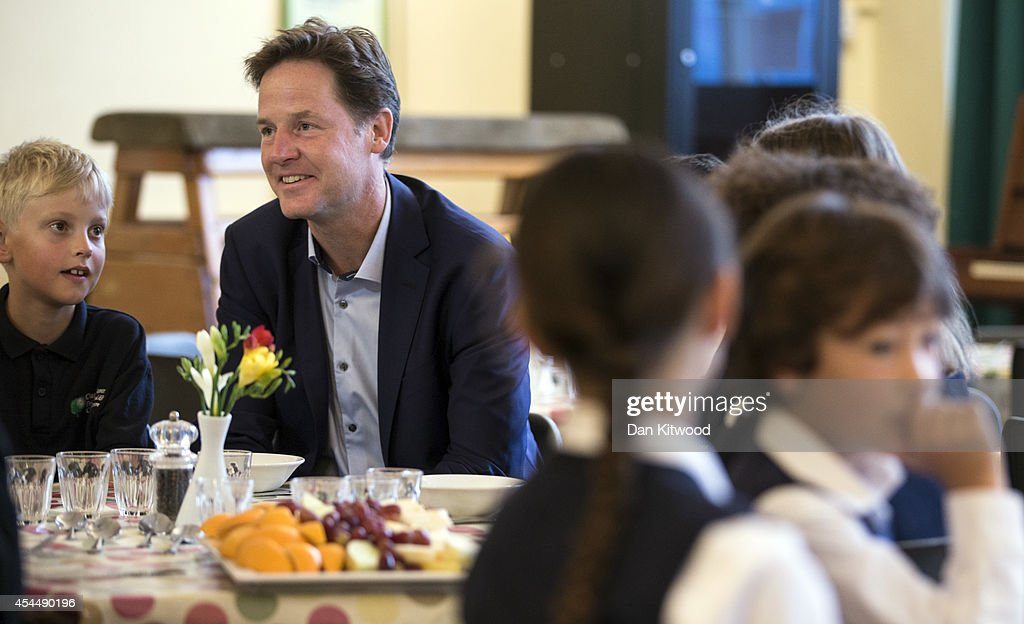 Deputy Prime Minister Launches Free School Meals : News Photo