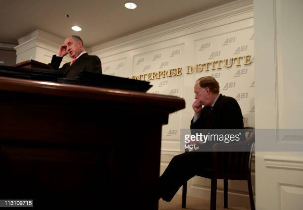 WASHINGTON DC Deputy Prime Minister of Iraq Ahmed Chalabi speaks at the American Enterprise Institute Wednesday November 9 2005 in Washington DC AEI...