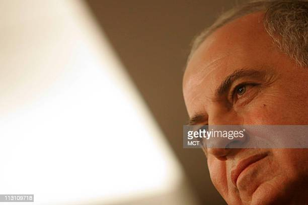 WASHINGTON DC Deputy Prime Minister of Iraq Ahmed Chalabi speaks at the American Enterprise Institute Wednesday November 9 2005 in Washington DC