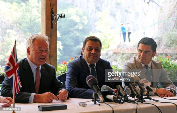 Deputy Prime Minister of Macedonia responsible for economic affairs and coordination with the economic sectors Koco Angjushev and British Minister of...