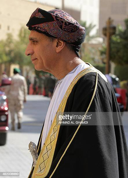 Deputy Prime Minister of Oman Fahd bin Mahmoud al Said attends the funeral of late Saudi King Abdullah bin Abdul Aziz on January 23 2015 in Riyadh...
