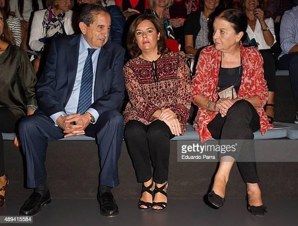 Deputy Prime Minister of Spain Soraya Saenz de Santamaria and Mercedes Benz Fashion Week director Cuca Solana are seen attending MercedesBenz Fashion...