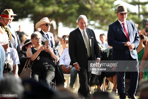 Deputy Prime Minister Winston Peters arrives at the opening of Te Rau Aroha on February 05 2020 in Waitangi New Zealand The $146 million Maori...