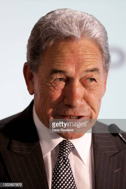 Deputy Prime Minister Winston Peters speaking at the Government announcement on a new infrastructure package on January 29, 2020 in Auckland, New...