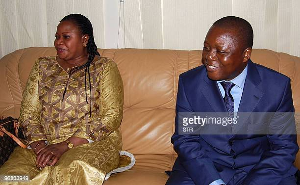 Deputy prosecutor of the International Criminal Court Fatou Bensouda meets Guinean Minister of Justice Colonel Siba lolamou on February 17 2010 upon...