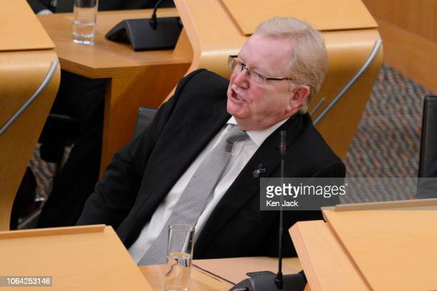 Deputy Scottish Conservative Party Leader Jackson Carlaw during First Minister's Questions in the Scottish Parliament on November 22 2018 in...