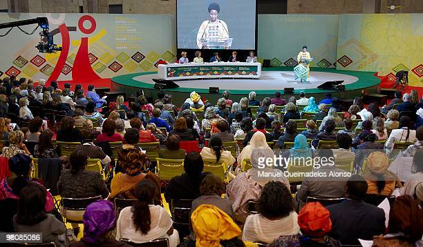 Deputy Secretary General AshaRose Migiro attends the opening of the twoday conference on 'Spanish and African Women for a Better World' on March 27...