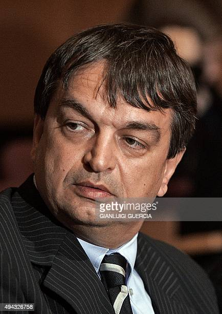 FIFA deputy secretary general Jerome Champagne looks on 17 July 2007 during a press conference to present the theatrical motion picture More Than...