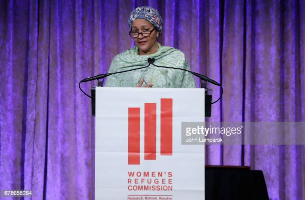 Deputy Secretary General of the United Nations Amina J Mohammed attends 2017 Women's Refugee Commission Voices Of Courage Awards at Cipriani 42nd...