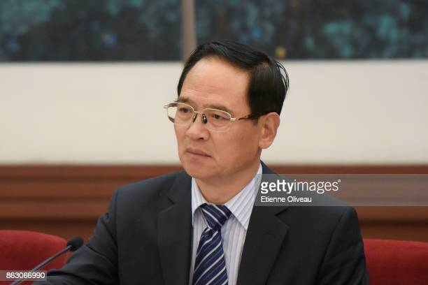 Deputy Secretary of CPC Hebei Provincial Committee Fu Zhifang attends a meeting of the 19th Communist Party Congress at the Great Hall of the People...