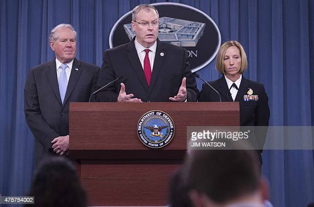 Deputy Secretary of Defense Bob Work Under Secretary of Defense for Acquisition Technology and Logistics Frank Kendall and Director of Medical...