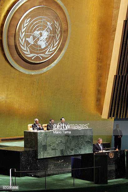 Deputy Secretary of Defense Paul Wolfowitz speaks during a United Nations General Assembly Special Session commemorating the 60th Anniversary of the...