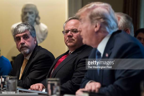 Deputy Secretary of Department of Interior David Bernhardt listens as President Donald Trump speaks during a Cabinet Meeting in the Cabinet Room at...