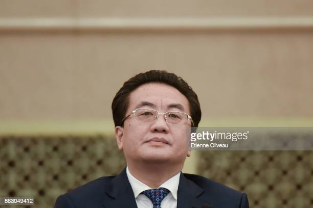 Deputy Secretary of the Sichuan CPC Provincial Committee Deng Xiaogang attends a meeting of the 19th Communist Party Congress at the Great Hall of...