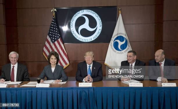 US Deputy Secretary of Transportation Jeffrey Rosen Secretary of Transportation Elaine Chao US President Donald Trump Acting Deputy Administrator of...