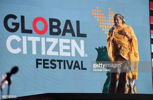 Deputy SecretaryGeneral of the United Nations Amina J Mohammed speaks onstage during the 2017 Global Citizen Festival in Central Park to End Extreme...