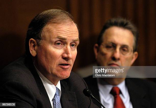 Deputy Treasury Secretary Robert Kimmitt and State Department Bureau of Economic and Business Affairs Assistant Secretary Tony Wayne testify at a...