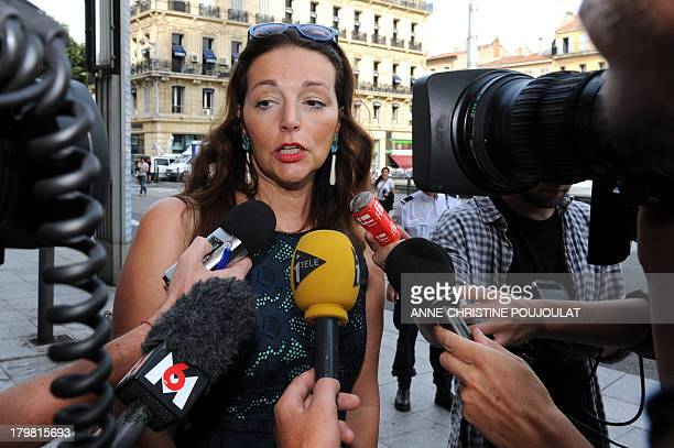 Deputy UMP Valerie Boyer arrives on September 7 2013 at the préfecture of BouchesduRhône in Marseille for a round table discussion on security in the...