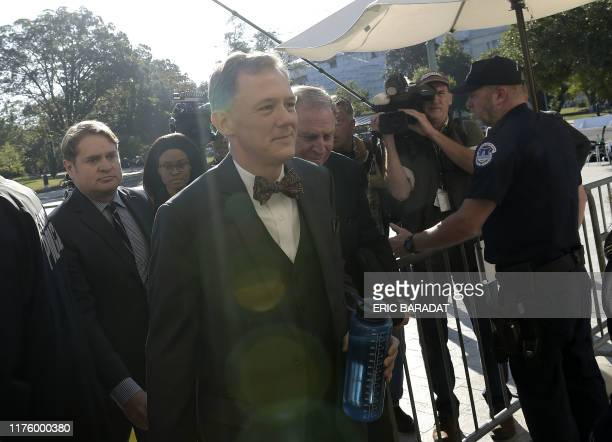 US deputy undersecretary of State George Kent arrives for a closeddoor deposition in front of the House Intelligence Foreign Affairs and Oversight...