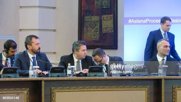 Deputy Undersecretary of the Turkish Foreign Ministry Sedat Onal attends the third session of Syria peace talks in Astana Kazakhstan on March 15 2017...