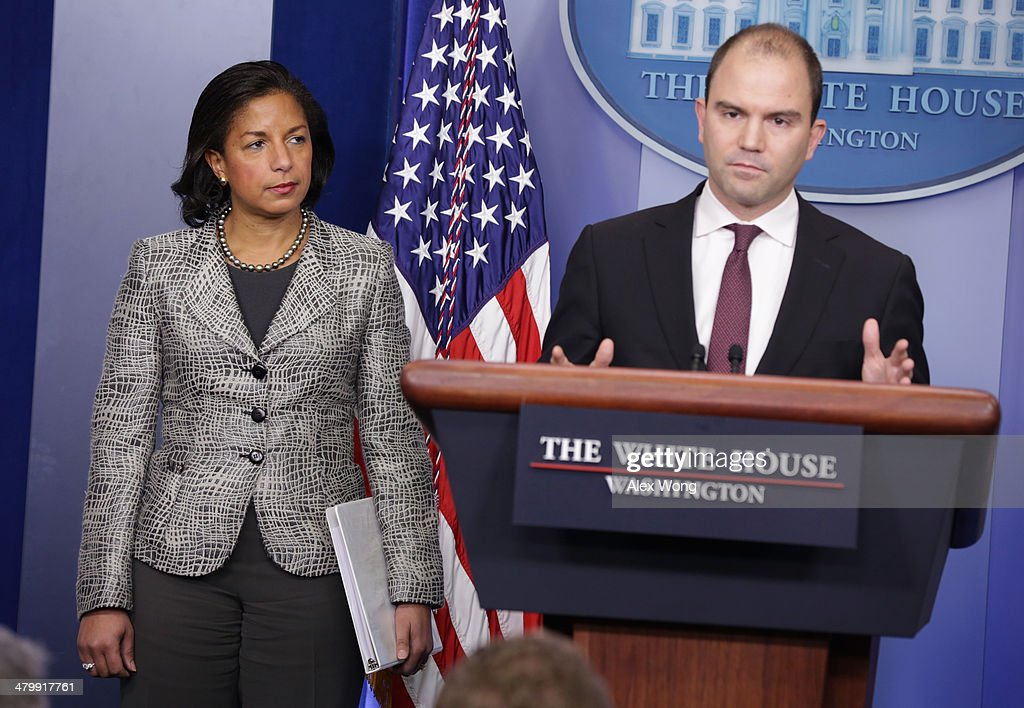 National Security Adviser Susan Rice Speaks At White House Daily Briefing : News Photo