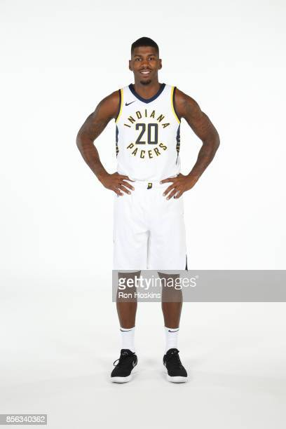 DeQuan Jones of the Indiana Pacers poses for a portrait during the Pacers Media Day at Bankers Life Fieldhouse on September 25 2017 in Indianapolis...