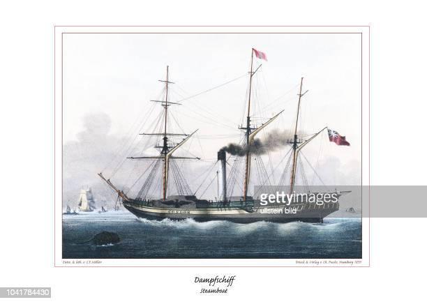Der Amerikaner Fulton und der Engländer Watt haben seit 1810 die Dampfschifffahrt beflügelt Um 1840 waren in Amerika 1800 Dampfschiffe in Gebrauch...