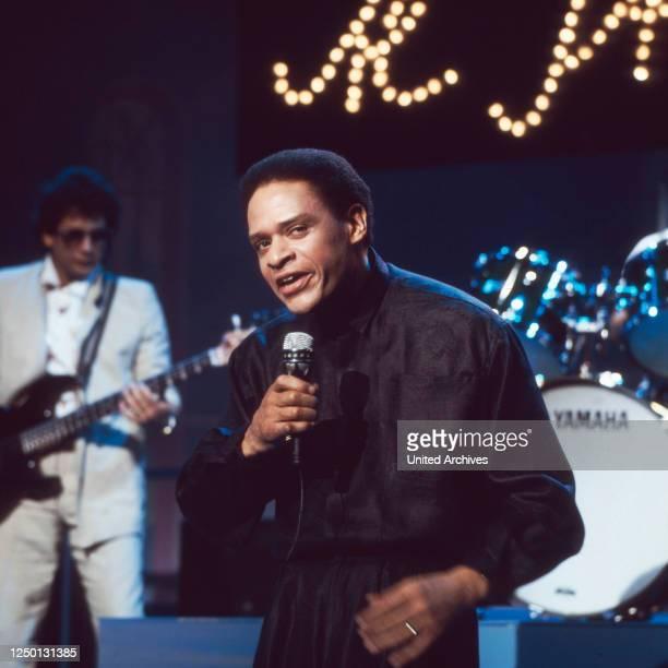 Der amerikanische Jazz- und Popsänger Al Jarreau, Deutschland 1970er Jahre.