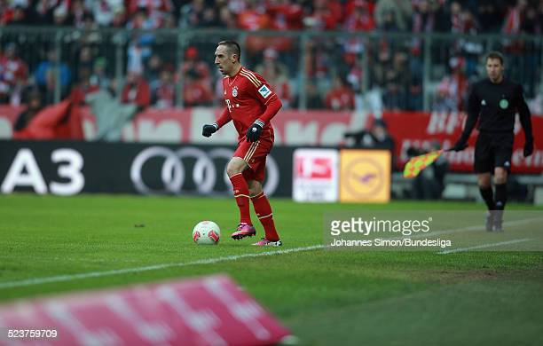 Der BayernSpieler Franck Ribery beim AufwaermTraining vor dem Bundesligaspiel FC Bayern Muenchen gegen die SpVgg Greuther Fuerth am 19 Januar 2013 in...