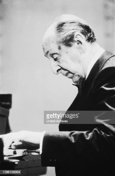 Der berühmte amerikanische Pianist VLADIMIR HOROWITZ , geboren in Russland, Porträt circa 1986.