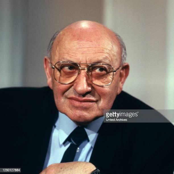 Der deutsche Autor, Publizist und Literaturkritiker Marcel Reich Ranicki, Deutschland 1980er Jahre.
