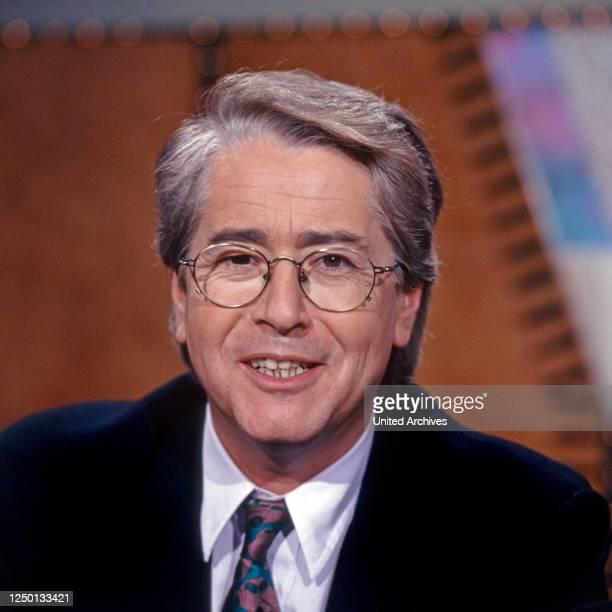 Der deutsche Radio- und Fernsehmoderator Frank Elstner, Deutschland 1980er Jahre.