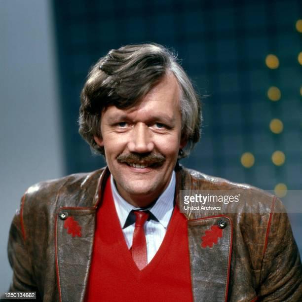 Der deutsche Schauspieler und Moderator Carlo von Tiedemann, Deutschland 1980er Jahre.