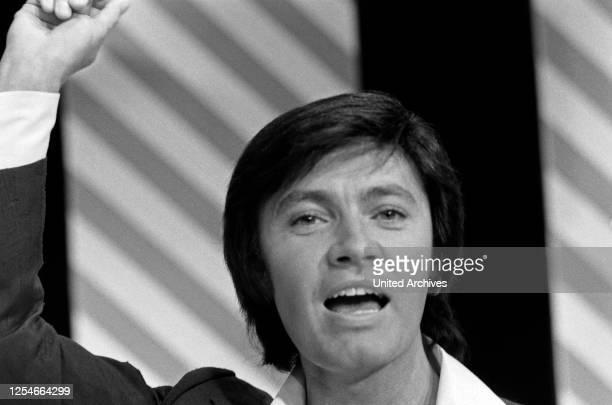 Der deutsche Schlagersänger und Schauspieler Rex Gildo, Deutschland 1970er Jahre.